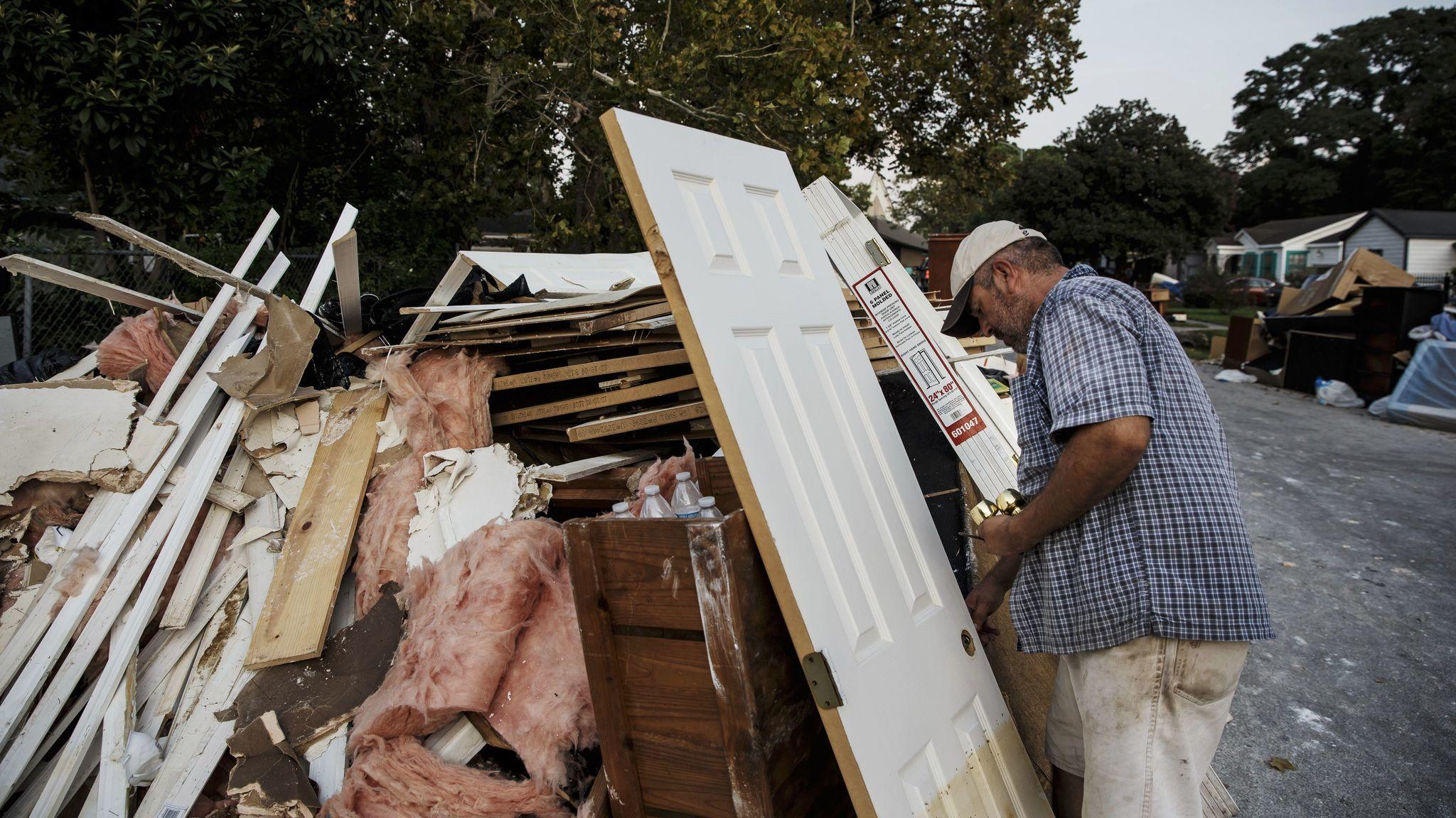 Lino Saldana is salvaging parts like doorknobs to save