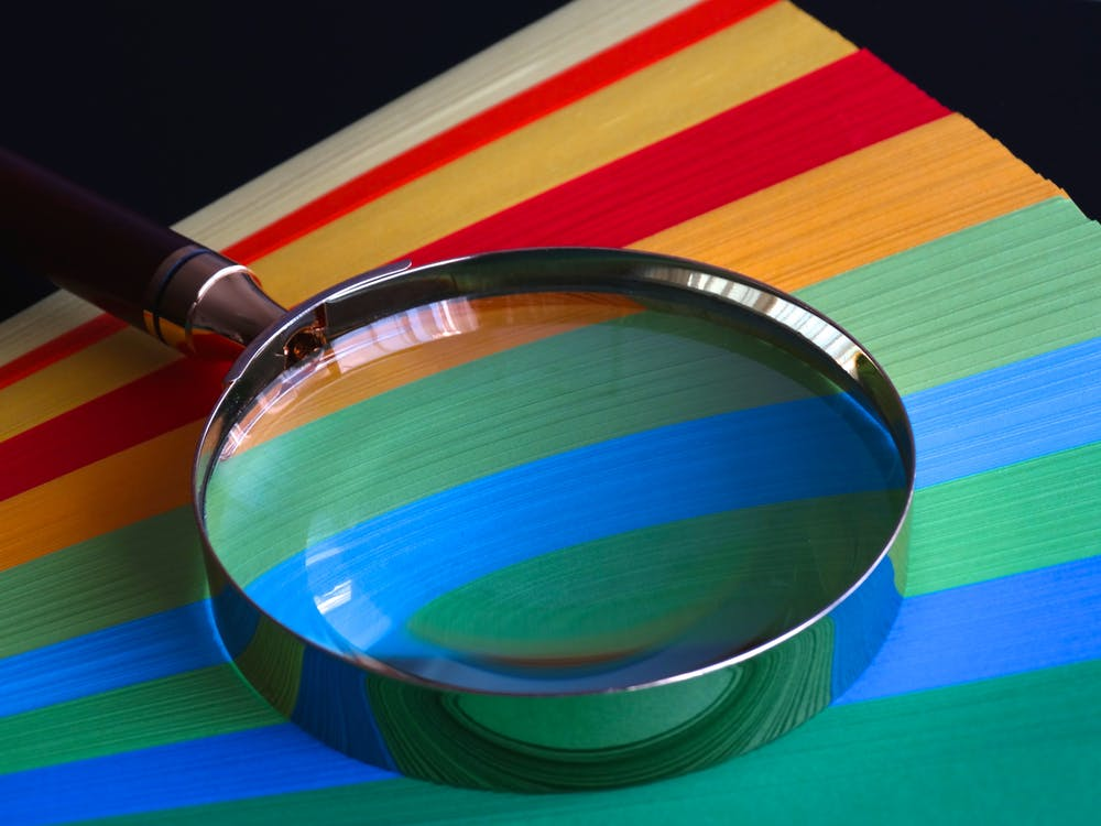 Brown Handle Magnifying Glass
