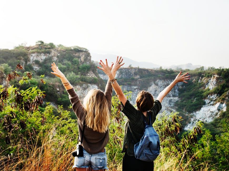 casual, cliffs, enjoyment